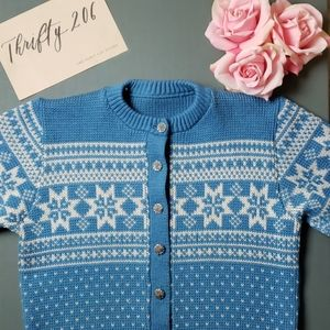 [Vintage] Hand Knitted Knit Cardigan Sweater